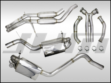 "Exhaust - Full - 2.75"" Performance Exhaust - Valved - Downpipes and Cat-Back (JHM) for B8-RS5 4.2L"
