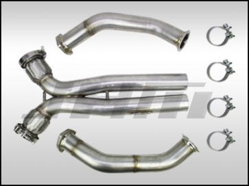 "Exhaust - 2.75"" Performance Downpipe and X-Pipe Combo (JHM) for B8-RS5 4.2L"