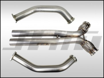 Exhaust -  Downpipes with X-Pipe (JHM) for the B8 S4-S5 Q5-SQ5 C7 A6-A7 3.0T