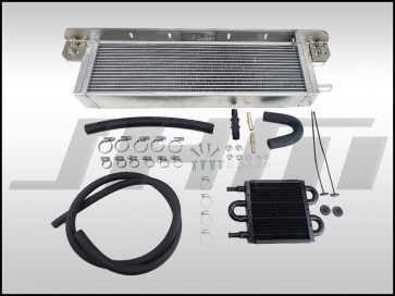 Auxiliary Heat Exchanger Kit (BLACK CORE) w PS Cooler - Bolt-On Performance Dual-Pass (JHM) for C6 A6 3.0T
