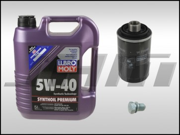 Oil Change Kit (JHM) Lubro-Moly (5w40) for 08+ Audi B8 A4-A5-Q5-allroad, A3, A6, TT,and VW w 2.0T TFSI and TSI