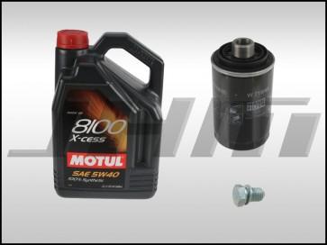Oil Change Kit (JHM) Motul X-cess (5w40) for 08+ Audi B8 A4-A5-Q5-allroad, A3, A6, TT,and VW w 2.0T TFSI and TSI