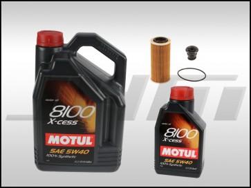 Oil Change Kit (JHM) MOTUL (5w40) for MK7-8V Golf-GTI-A3-S3-Q3-TT-TTS 1.8T-2.0T TFSI-TSI MQB, B9 A4-A5 2.0T