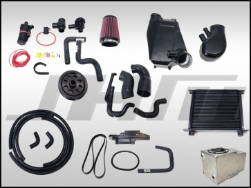 JHM Supercharger Kit for B7-RS4, Stage 1+ Upgrade with smaller pulley and complete air to water intercooler