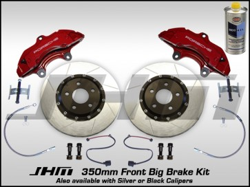 Front BBK (Big Brake Kit) JHM 350mm Cayenne (Brembo 6-piston) B5-B6-B7-C5 - w RED Calipers