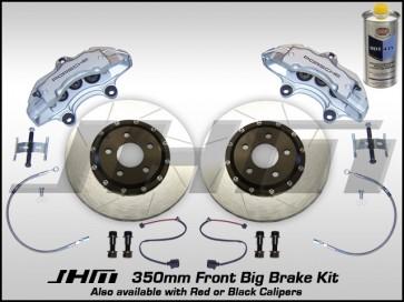 Front BBK (Big Brake Kit) JHM 350mm Cayenne (Brembo 6-piston) B5-B6-B7-C5 - w SILVER Calipers