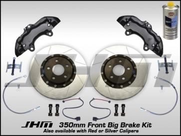 Front BBK (Big Brake Kit) JHM 350mm Cayenne (Brembo 6-piston) C5-A6-S6 4.2L w BLACK Calipers
