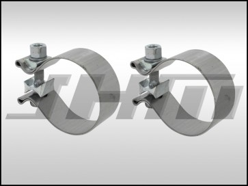 Exhaust Clamp (PAIR), Torca Stainless Steel (Magnaflow) for 2.5 in Pipe Diameter