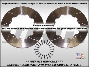 Rear Rotors RINGS ONLY (JHM), Pair w/ Hat Hardware 330x22 for B8 S4-S5-RS5, S6 V10 & B6-B7 S4 BBK