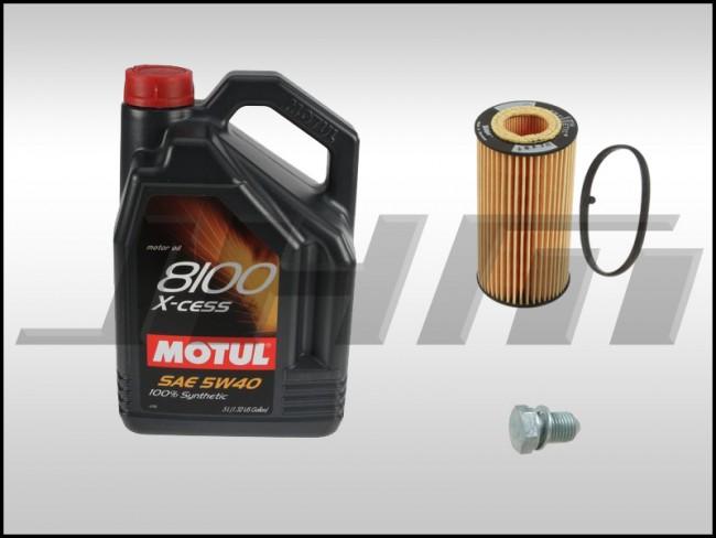 Oil Change Kit Jhm Motul X Cess 8100 5w40 For B7 A4 8p A3 8j Tt