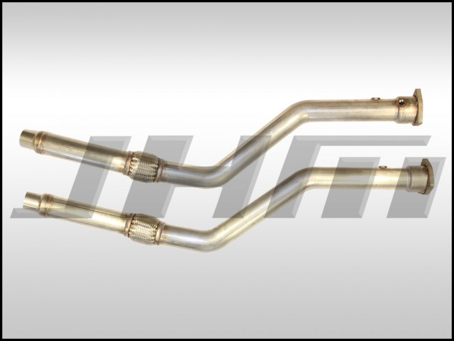 Exhaust - Downpipes - JHM B6-A4 and C5-A6 3 0L Stainless Steel, 2 5 inches