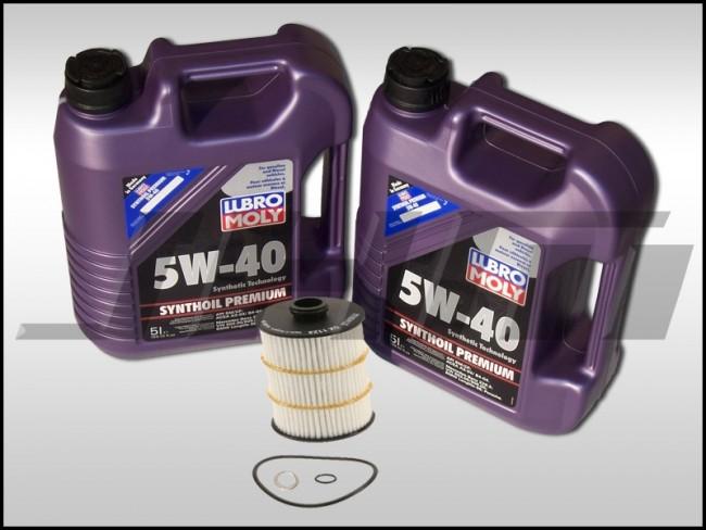 Oil Change Kit (JHM) Liqui-Moly (5w40) for 4 0T C7-C7 5 S6-S7-RS7, D4-D4 5  A8-S8