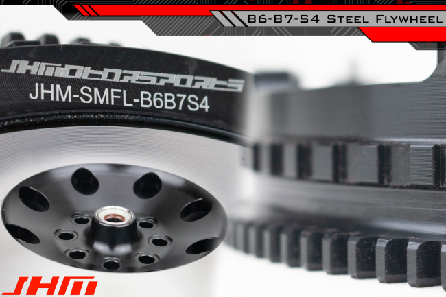 JHM Lightweight Flywheel (Chrome-Moly Forged or Aluminum) and Clutch Combo  for 04 and up B6-B7 S4