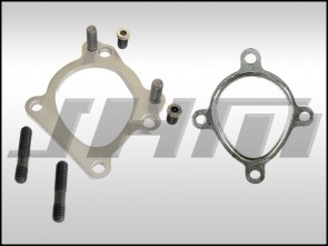 Downpipe Flange, Adapter, Bolt On (PAIR) for RS6 or RS6-R Turbos to Use K03-K04 Downpipes