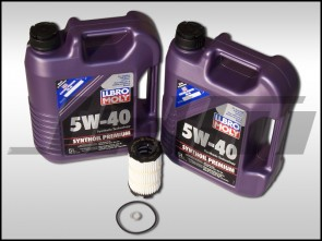 Oil Change Kit (JHM) Lubro-Moly (5w40) for B7 RS4, R8, Q7, C6 A6, D3-D4 A8, B8 S5-RS5, Touareg w V8 and R8, C6 S6, D3 S8 w V10