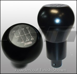JHM Weighted Stainless Steel Shift Knob (Stainless Steel 5-speed Knurled & POWDERCOATED Clamp on Style) for Audi-VW B6