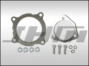 Hardware Kit FULL w JHM aluminum reusable large ID gasket (JHM) for B7-A4 2.0T Cat Pipe or Race Pipe