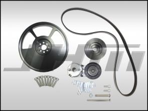 JHM 6-Rib Alternator Belt Conversion Kit, Version 2 for B6-B7 S4 and C5-allroad w 4.2L (40v)