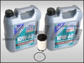 Oil Change Kit (JHM) LiquiMoly Synthoil Race Tech GT1 (10w60) for B7 RS4, R8, Q7, C6 A6, D3-D4 A8, B8 S5-RS5, Touareg w V8 and R8, C6 S6, D3 S8 w V10