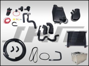 JHM Supercharger Kit for B6-B7 S4 and C5 allroad 40v, Stage 1+ Upgrade with complete air to water intercooler - requires battery relocation kit