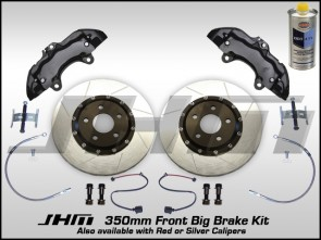 Front BBK (Big Brake Kit) JHM 350mm Cayenne (Brembo 6-piston) B5-B6-B7-C5 - w BLACK Calipers
