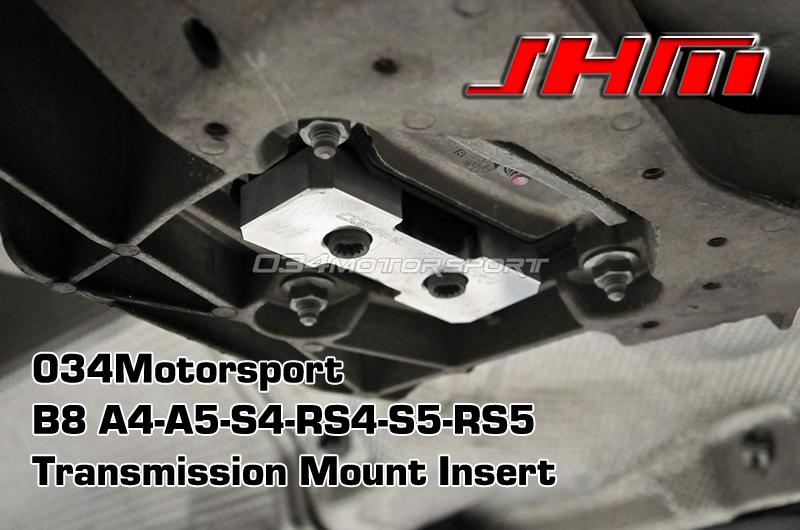 Audi Transmission Mount Insert, Billet Aluminum (034Motorsport) for B8 A4-S4-RS4 A5-S5-RS5