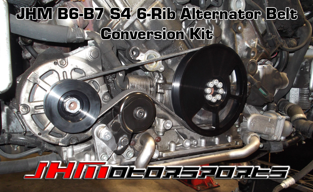 Audi JHM 6-Rib Alternator Belt Conversion Kit, Version 2 for B6-B7 S4 and C5-allroad