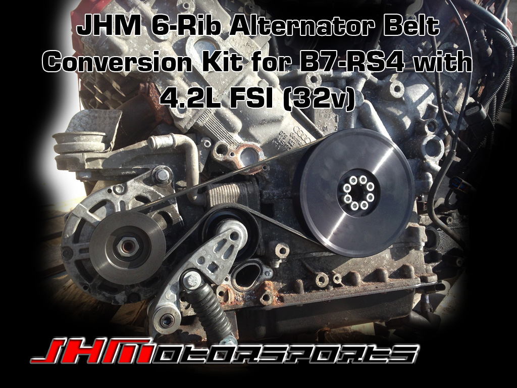 Audi 6/Rib Alternator Belt Conversion Kit, B7/RS4