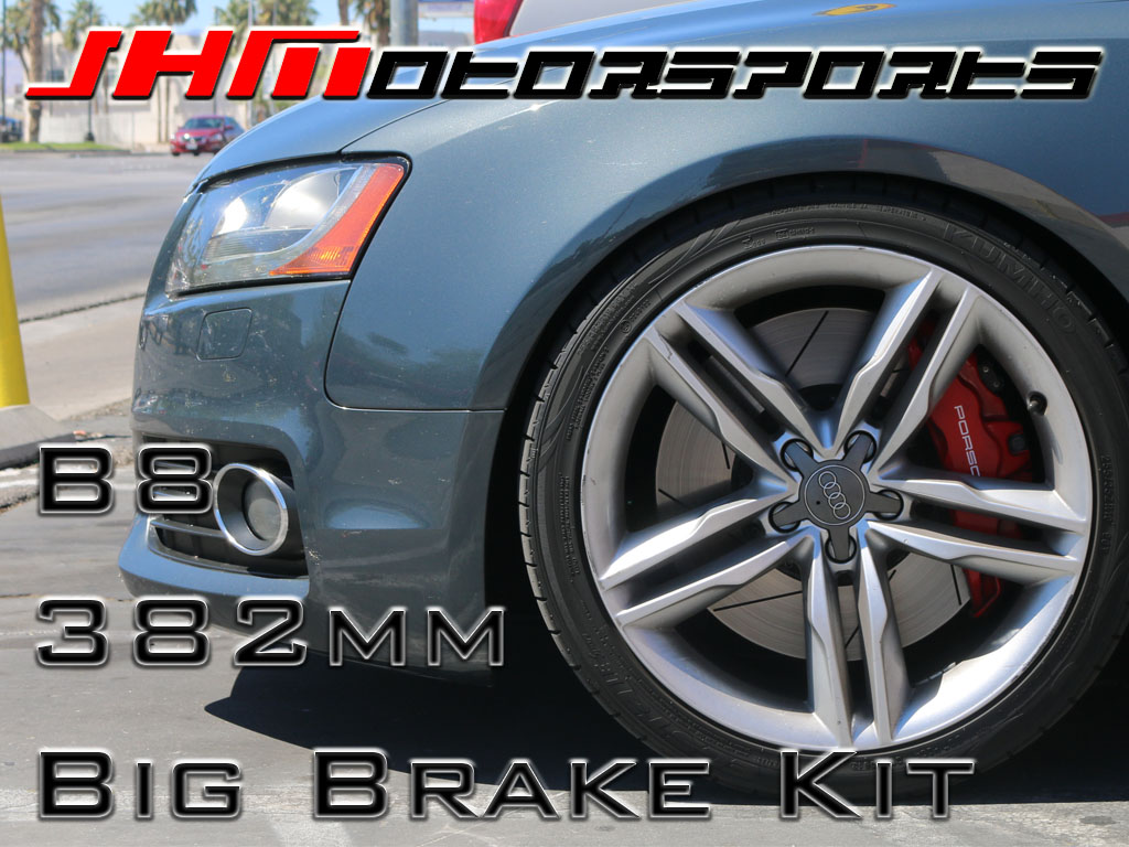 Audi Front BBK (Big Brake Kit) 382mm Porsche (Brembo 6-piston) for B8 A4-A5-S4-S5