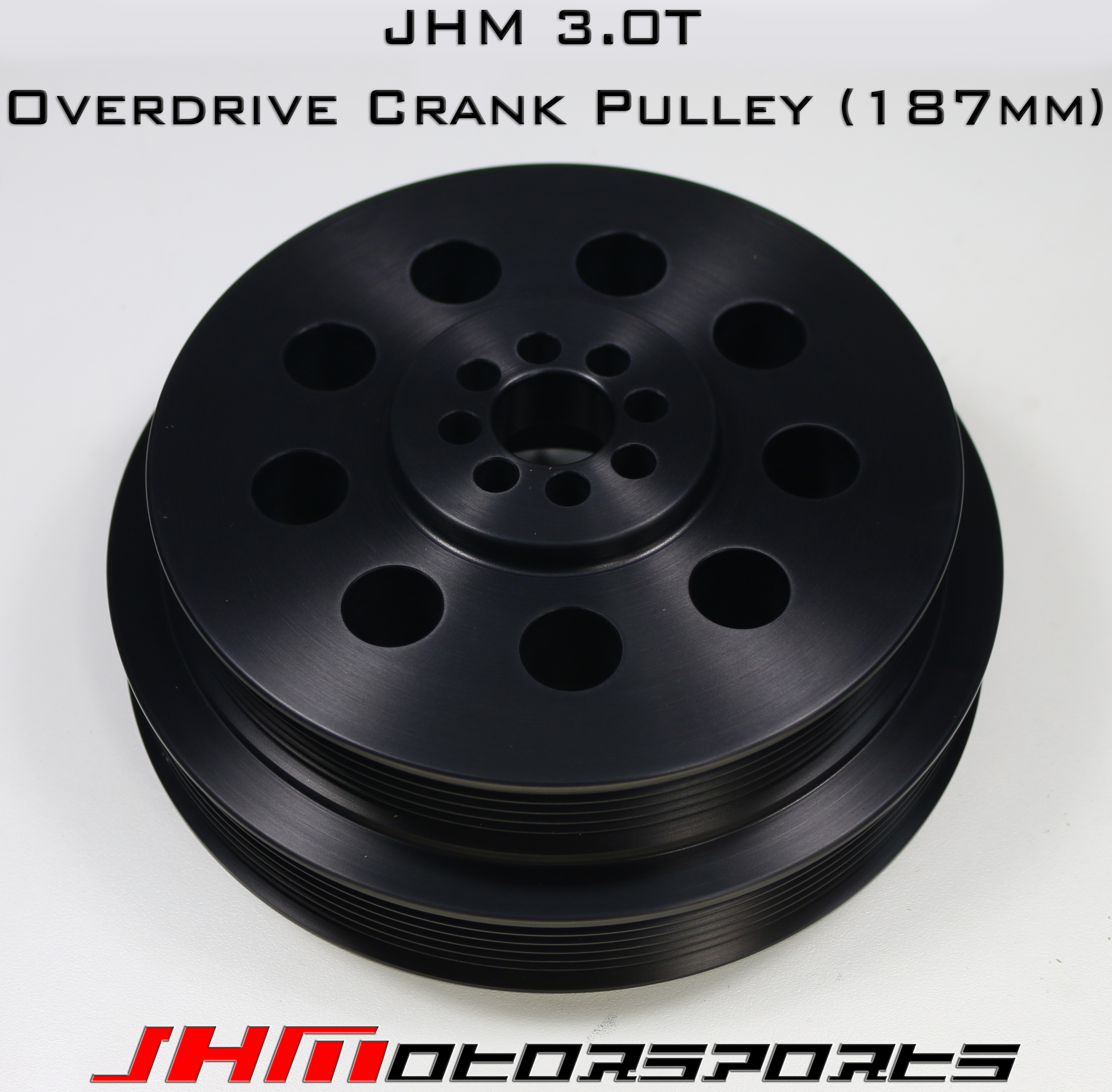Audi JHM HD Overdrive Lightweight Crank Pulley for 3.0T