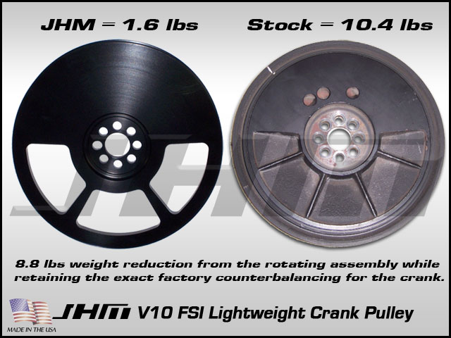 Audi C6-S6 & D3-S8 Lightweight Crank Pulley by JHM