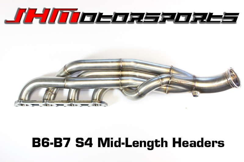 Audi S4 Headers - Mid-Length Stainless