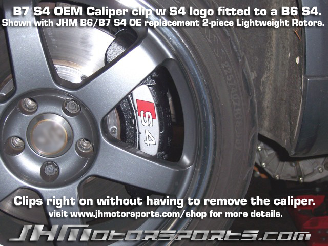 Audi Front B6/B7 S4 Caliper Badges/Clips