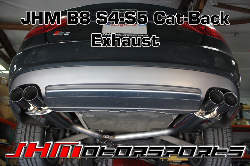 Audi Exhaust - Cat-Back PARTIAL - Stainless Steel, 2.5 for B8-S5