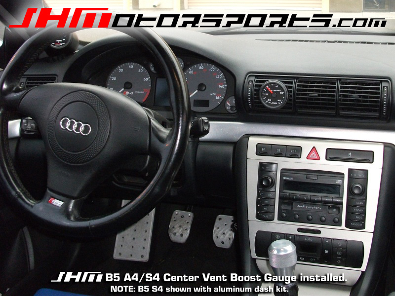 Audi JHM Center Vent Boost Gauge for B5 S5