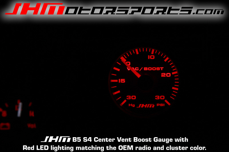 Audi JHM Center Vent Boost Gauge for B5 S4