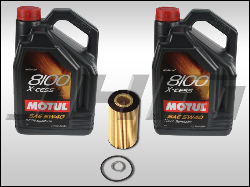 New JHM oil change kits with Motul X-cess 5w40 oil now