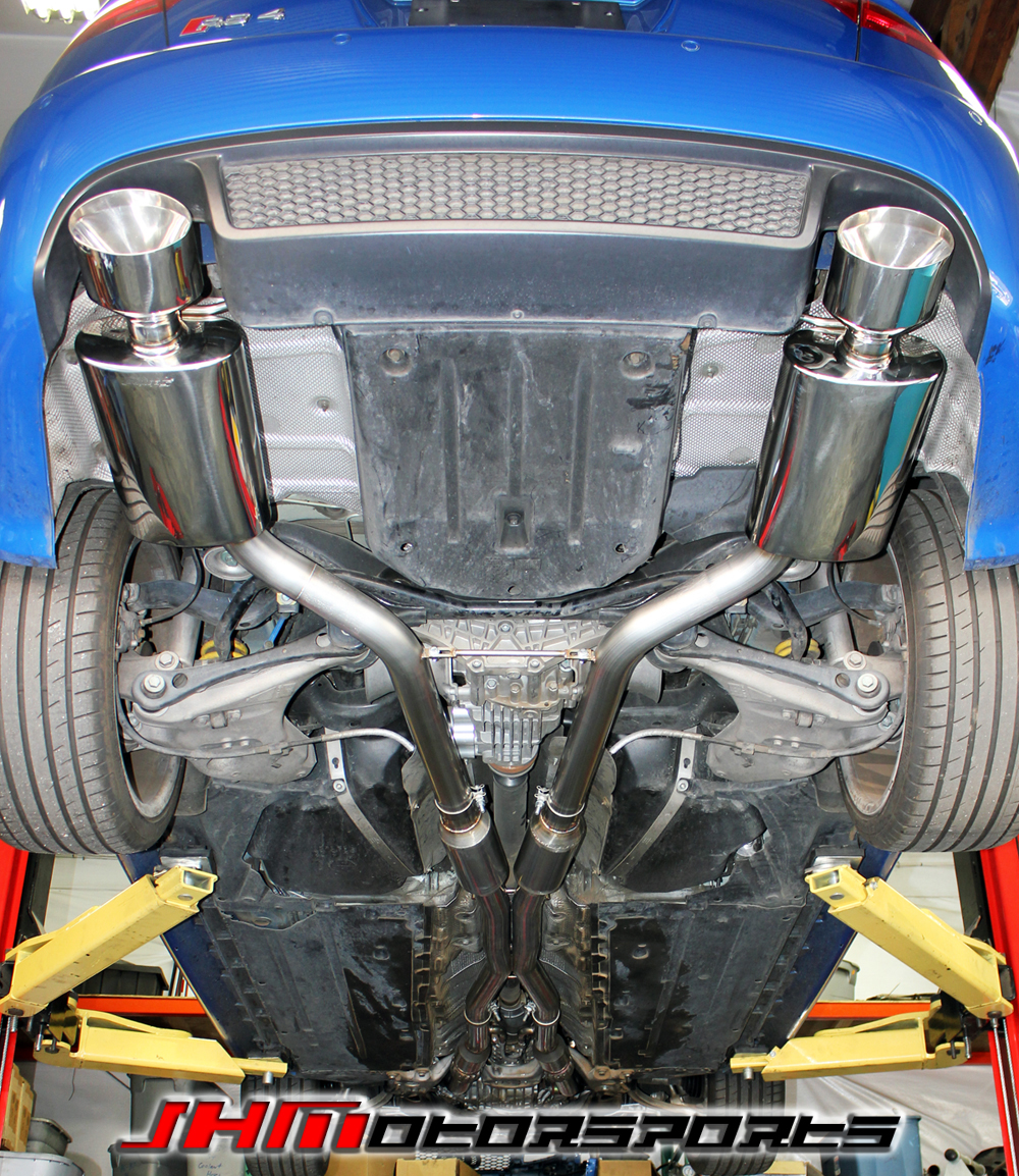 """RS4 Customer Installed JHM 2.75"""" Full RS4 Exhaust System"""